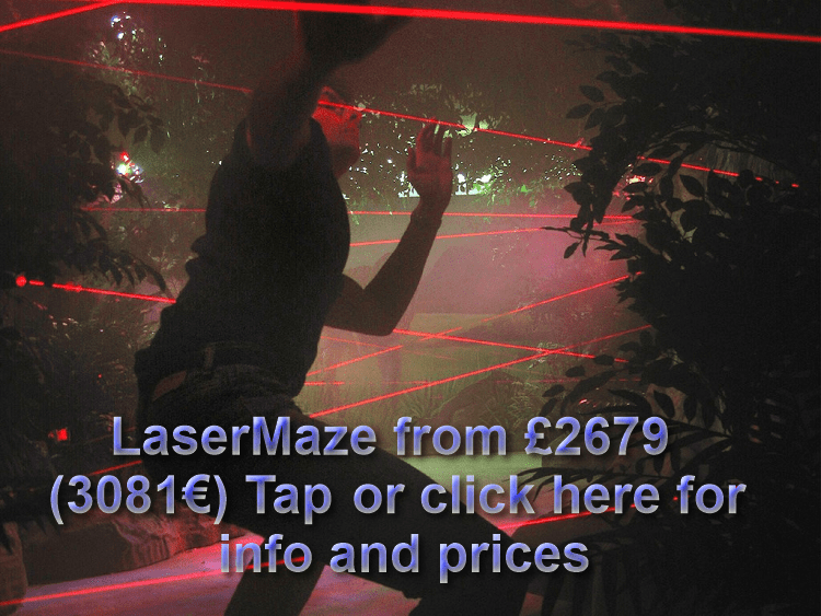 The Summer Palace of LaserMaze at the Crown Prince of Dubai - Chertsey, Surrey, England