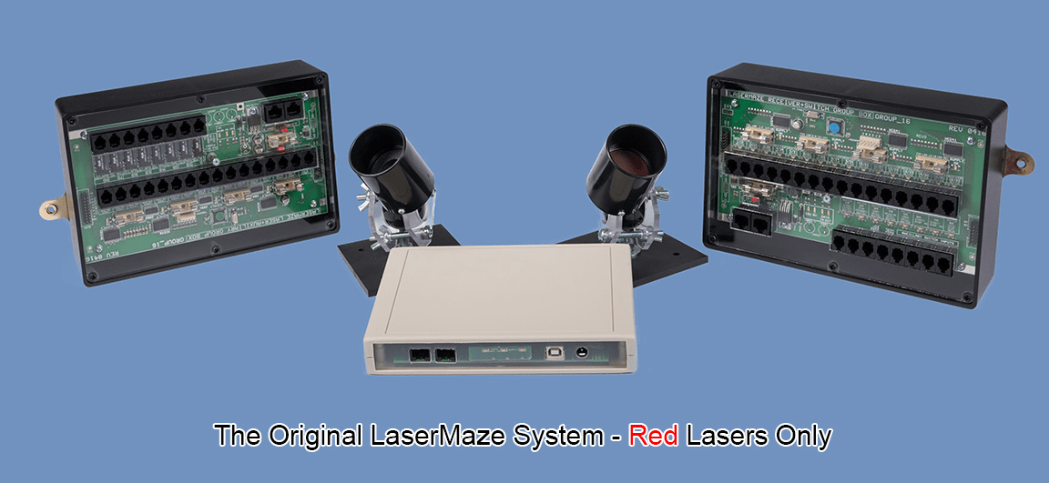 The original red-only LaserMaze System