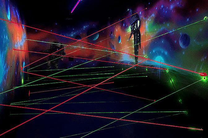 A red and green laser system