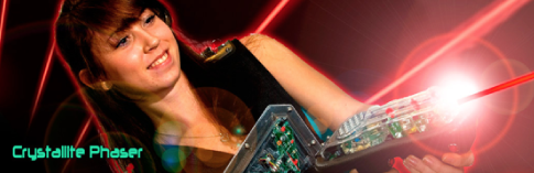 Crystallite Phaser LaserTag equipment in action, manufactured in UK